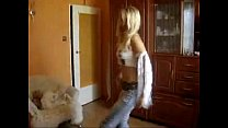 Amazingly Hot Blonde College Girl Dancing In Her Room