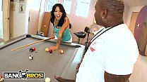 BANGBROS - Zoey Holloway Plays With Rico Strong's Big Black Pool Stick Dick's Thumb