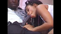 Superior black girl spreads her legs for cock and gets her face covered with semen thumbnail