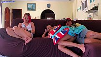 17796 Creampie her next to girlfriend while she watches TV preview