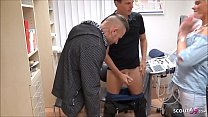 German Nurse Stacy help 2 Guys to Cum in Semen ...