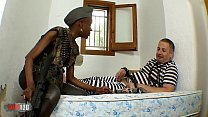 x video: black african miitary girl fucked in the ass by her prisonner thumbnail