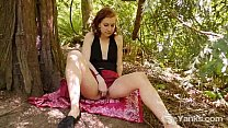 Cutie Anja Masturbating Outdoors Thumbnail