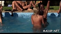 Wet hot sex party with loads of breathtaking lascivious babes