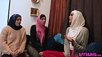 11740 Muslim teen bride and BFFs fuck a BBC at bachelor party preview