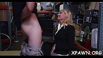 Dilettante does a blow job in the store and that babe humps image