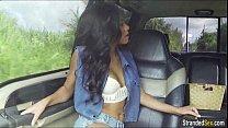 Teen Diamond Monroe hitches ride n gives stranger a blowjob