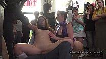 Natural busty slave serves the public pornhub video