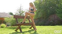 Image: Sex toy foot fetish masturbation with hot sex goddess Amber Jayne