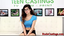 Petite spex teen bound and fucked at casting preview image