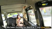 Hottie office manager gets rammed hard in the taxi thumbnail