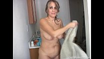Sexy old spunker shaves her pretty pussy and has a nice wank thumbnail
