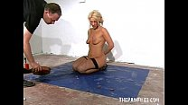 Bizarre worms humiliation and filthy mess degradation of blonde slaveslut thumbnail