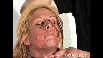 Image: Bizarre worms humiliation and filthy mess degradation of blonde slaveslut