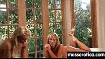 teen Eats MILF Pussy at Oily threesome 18 thumbnail
