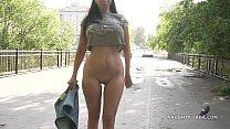 Image: Jeans skirt flashing