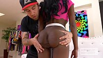 Ebony teen fuckdoll Kandie Monae gets smashed rough by Hookup Hotshot Preview