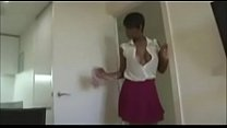Hot Ebony Milf playing with herself for the camera - www.maturemilfsvid.com