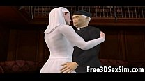 Foxy 3d Cartoon Nun Sucking On A Priests Hard Cock