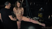 BDSM Teen slave spanked with whip in fetish porn video she swallows cum صورة
