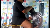 Image: Hot BBW South African hair stylist banged in her shop by BBC.