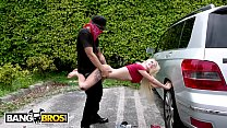 BANGBROS - Bruno Dickemz Smashes Kenzie Reeves's Tight Teen Pussy image