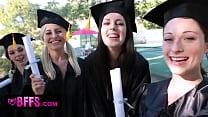BFFS - Celebrating Graduation With Lesbian Threesome video