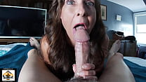 Sexy Blue Eyed Milf Sucks Cum POV
