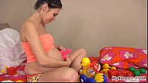 Pregnant Kristyna Fucks Her Shaved Pussy!'s Thumb