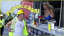 BANGBROS - Bridgette B Serves Sean Lawless Hot Dogs And A Pair Of Big Tits - download porn videos
