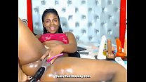 Busty Ebony Babe Putting Her Dildo In Her Ass thumb