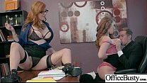 (Lauren Phillips & Lena Paul) Sexy Big Tits Office Girl Love Hard Sex clip-21