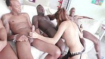 4 on1 Interracial with Roxy Dee - Airtight,  Asshole destruction and Throat Fuck Preview