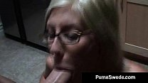 Swedish Sex Pot Puma Swede Takes A Load Of Cum On Her Face! thumbnail
