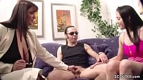 German MILF teach young Couple to have best Sex in live