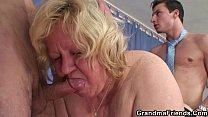Granny double blowjob and fuck - Download mp4 XXX porn videos