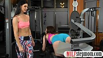 Sexy Milf And Teen Hot Threesome Session With Gym Coach
