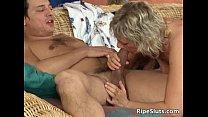 Sexy blonde mature teacher is hot as she Vorschaubild