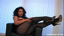 Danica Collins (Donna Ambrose) Playing in Pantyhose