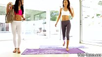 Yoga asian teen munches