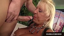 Busty Grandma Mandi McGraw Sucks a Cock and Then Rides It with Enthusiasm pornhub video