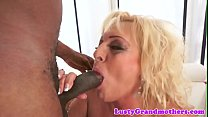 Pussyfucked granny spreads her legs for bbc