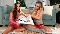 Samantha Saint & Abigail Mac Christmas Fun Image