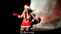 Eight pervert old men gangbang sexy santa girl thumbnail