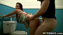 Amateur latina fucked in public bathroom Calenita 3 Preview