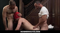 Mormon Twink Masked While Bishop And President Take Turns Fucking Him video