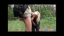 Blonde milf slut fucked outdoor by german stranger
