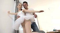 Teen Ballerina Makes a Plié Over Huge Cock thumbnail