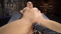 Shaved pussy Milf takes machine in bdsm thumbnail