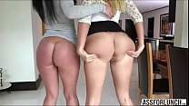 Exquisite ladies Layla and Brittany gets their pussy hammered
